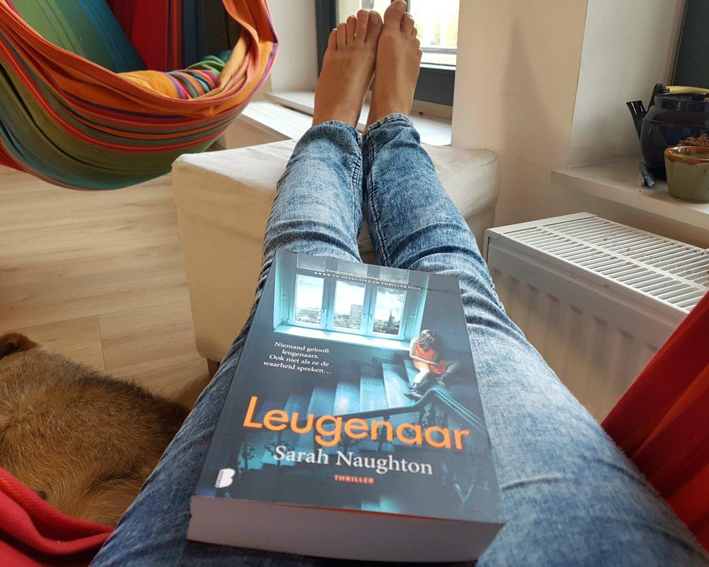 Het boek Leugenaar van Sarah Naughton.